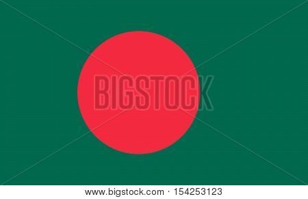 Official vector flag of Bangladesh . People's Republic of Bangladesh .