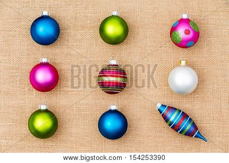 Festive Christmas Still Life With Tree Ornaments