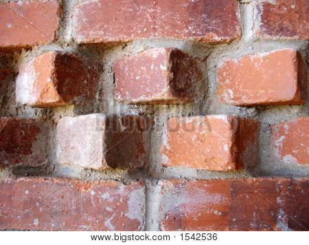 Accent Pattern In The Top Of A Brick Wall