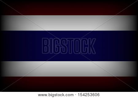 Flag of Thailand . mourning for king of thailand pass away . rest in peace .