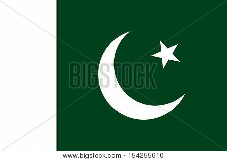 Official vector flag of Pakistan . Islamic Republic of Pakistan .