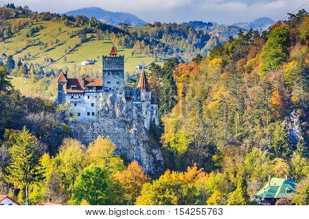 Brasov Transylvania. Romania. The medieval Castle of Bran known for the myth of Dracula.
