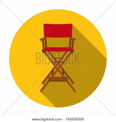 Director's chair icon in flat style isolated on white background. Films and cinema symbol vector illustration.