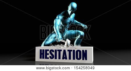 Get Rid of Hesitation and Remove the Problem 3d Illustration Render