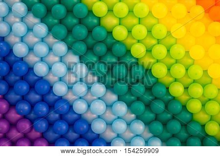 Colorful balloons background us for party - Stock Photo