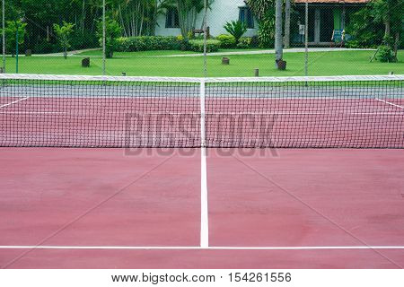 Outdoor Tennis Court, sport - Stock Photo