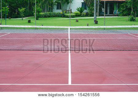 Outdoor Tennis Court, sport - Stock Photo