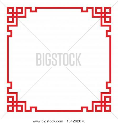 china border frame vector, illustration background texture