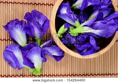Blue Pea Butterfly Pea Background