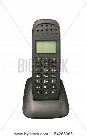 image of wireless telephone isolated on white background