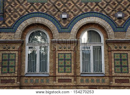 Brick building of the 19th century. Brazilian Embassy on Bolshaya Nikitskaya Street in Moscow.