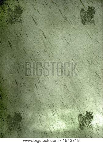 Gothic Bckgrnd W Gargoyle