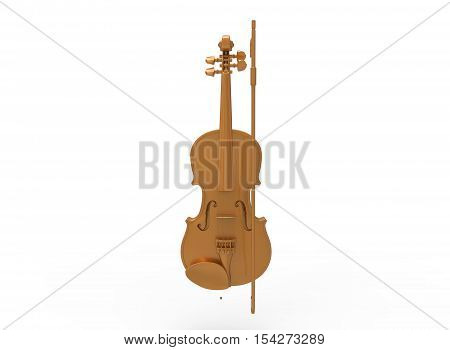 3d illustration of cello. isolated on white background