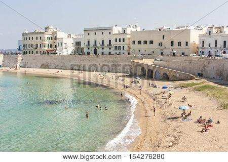 Beach Breast of Purity Gallipoli beach Apulia