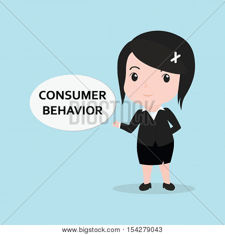 Business Woman Concept By Message Is Consumer Behavior