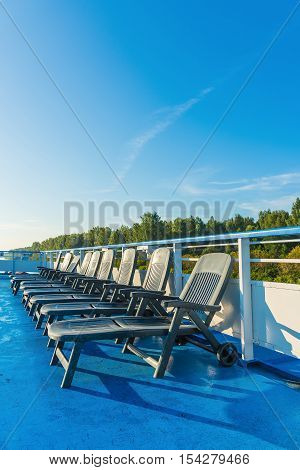 Chaise Lounge Deck Of A Ship
