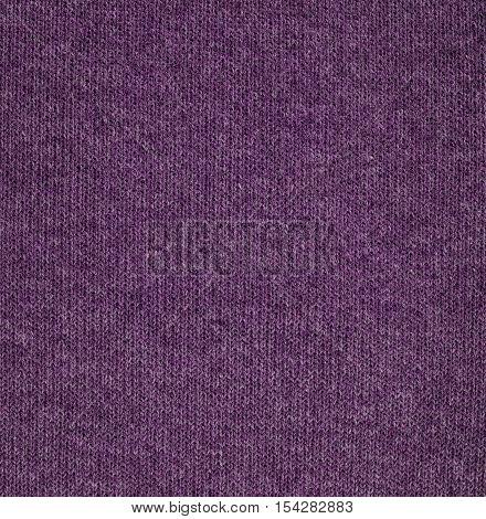Purple knitwear fabric texture. Fashion fabric texture background
