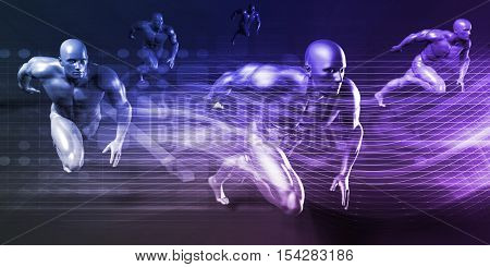 Modern Wireless Technology and Social Network Technologies Concept 3d Illustration Render