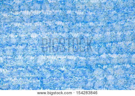 Cyan knitwear fabric  texture cloth background closeup