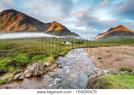 The River Coe At Glencoe In Scotland