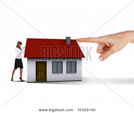 Collage symbolizing the real estate business