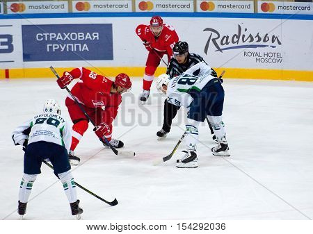 V. Bobrov (38) Vs R. Lyuduchin (88) On Faceoff