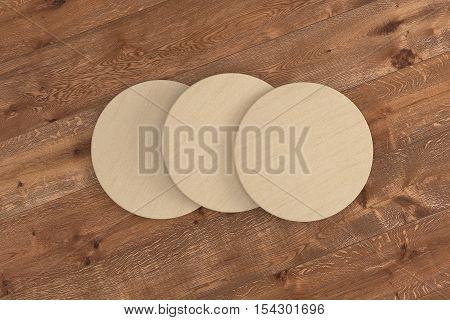 Cardboard Round Coasters.