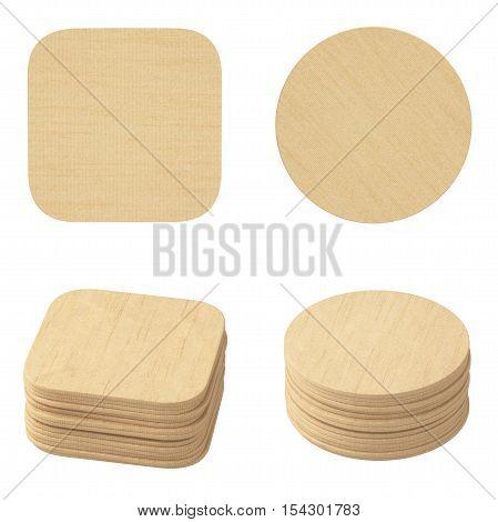 Set Of Cardboard Coasters.