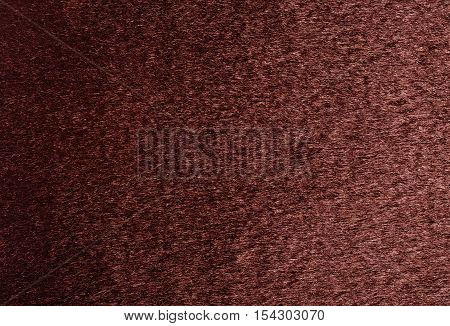 Natural red fur texture background close up.