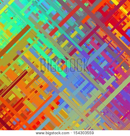 Color glitch background, distortion effect, abstract texture, random diagonal lines for design concepts, posters, presentations and prints. Vector illustration.