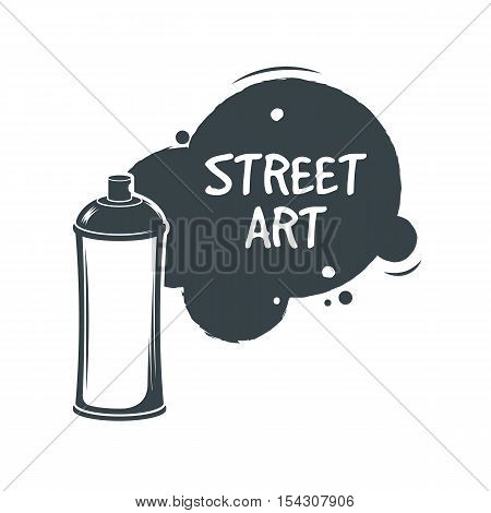 Aerosol graffiti paint spray. Stree art concept. Sticker. Vector Illustration. Graffiti style. Print