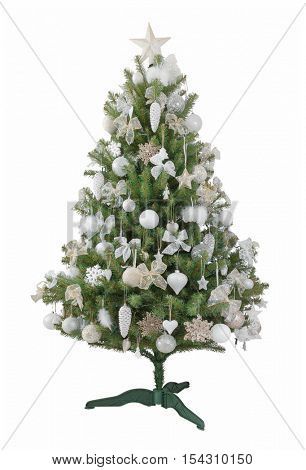 a beautiful Christmas tree on a white background
