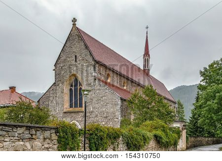Dominican cathedral in early Gothic style was built around 1250 and with a length of 74m it is Carinthia's longest church building Friesach Austria