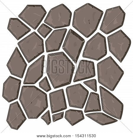 Dry cracked ground texture, vector background, for seamless pattern