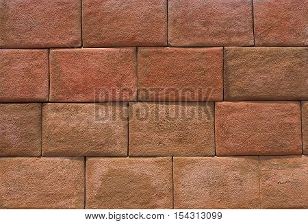 Stone wall rough tile texture vintage background.