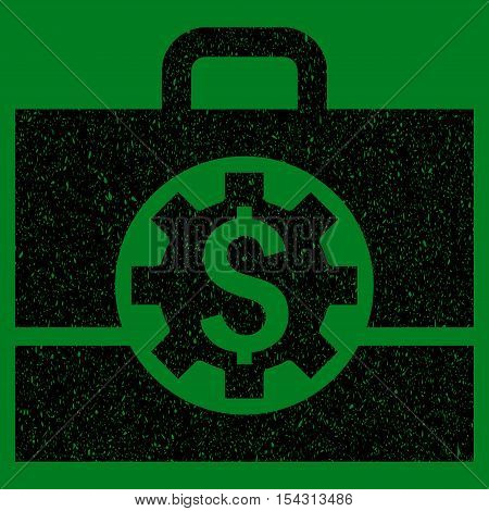 Bank Career Options grainy textured icon for overlay watermark stamps. Flat symbol with scratched texture.