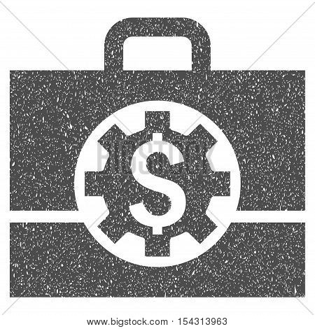 Bank Career Options grainy textured icon for overlay watermark stamps. Flat symbol with unclean texture. Dotted vector gray ink rubber seal stamp with grunge design on a white background.