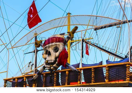 Tourist Ship Decorated As Pirate