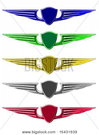 Vector version. Set of emblems for decoration isolated on white. Jpeg version is also available