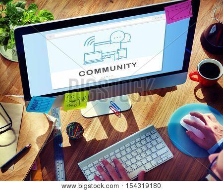 Soc?al Media Networking Online Connection Communication Concept