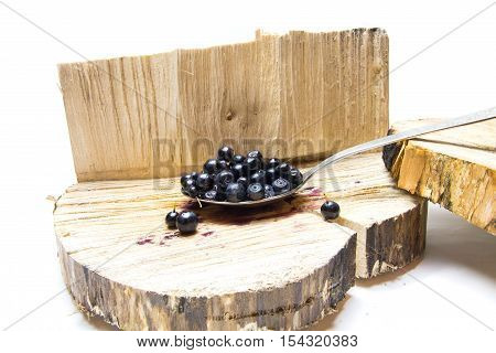 Bilberry. Strawberries On The Stump.