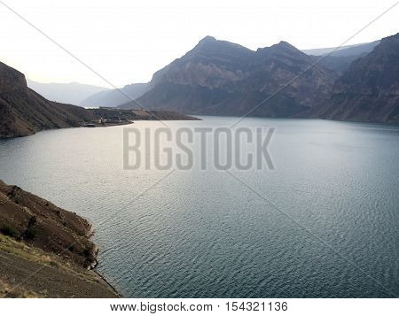 Dagestan Makhachkala Gimry Chirkey Reservoir hydroelectric Vodokanal Water Mountain Nature Landscape Beauty Russia