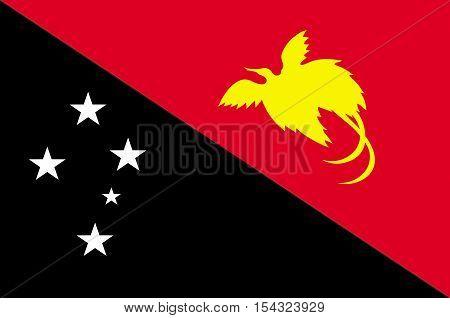 Flag of Papua - New Guinea Port Moresby Melanesia