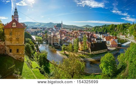Panoramic view of Cesky Krumlov, Czech Republic