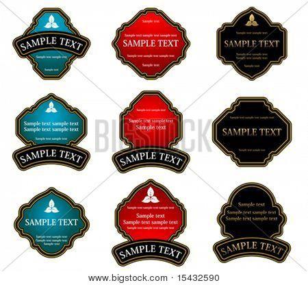 Set of vintage labels for design food