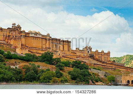 Beautiful Amber Fort in Jaipur, Rajasthan, India
