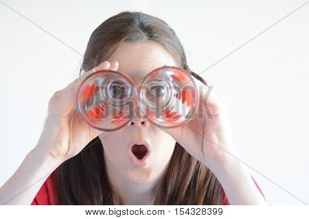 Woman With Difficulty To See