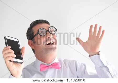 Geeky Man Has A Communication Idea