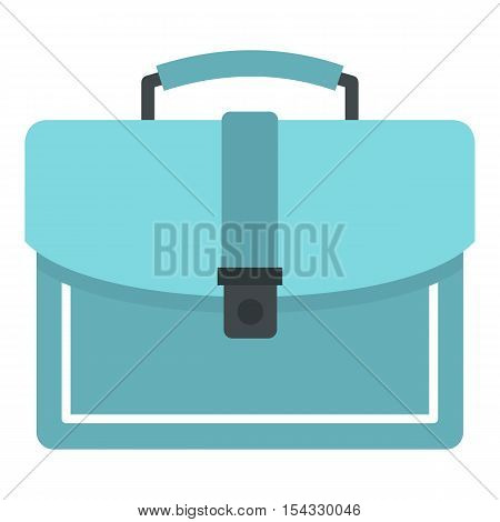 Briefcase icon. Flat illustration of briefcase vector icon for web