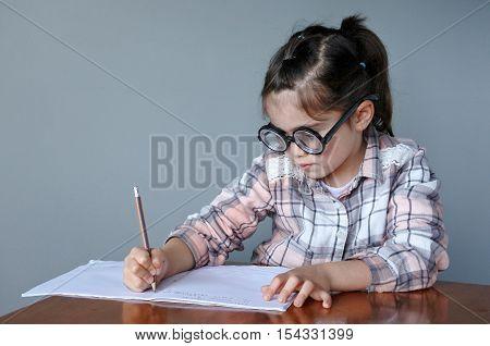 Nerdy Child Writes A Story